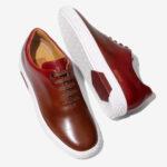 a.testoni|靴作りのノウハウが活きたホールカットのスニーカー